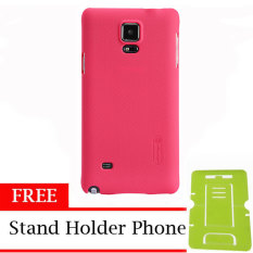 Nillkin ORIGINAL Super Frosted Shield Samsung Galaxy Note 4 - Red Hardcase Backcase Backcover Case HP Casing Handphone