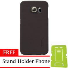 Nillkin ORIGINAL Super Frosted Shield Samsung Galaxy S6 Edge - Brown/Coklat Hardcase Backcase Backcover
