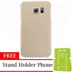 Nillkin ORIGINAL Super Frosted Shield Samsung Galaxy S6 Edge - Gold/Emas Hardcase Backcase Backcover