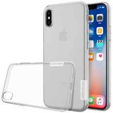 NILLKIN Transparan Tipis Soft Nature Slim Crystal Clear TPU Soft Shell Case Belakang untuk Apple IPhone X-clear Putih-Intl