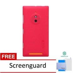 Jual Beli Online Nillkin Untuk Nokia Lumia 830 Super Frosted Shield Merah Gratis Anti Gores Nillkin
