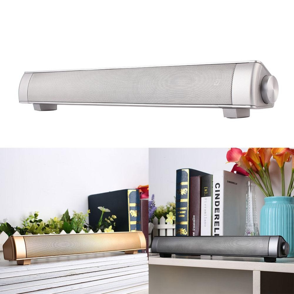 Nirkabel Bluetooth Suara Pengeras Suara Bar Subwoofer TV Home Theater Soundbar-Intl
