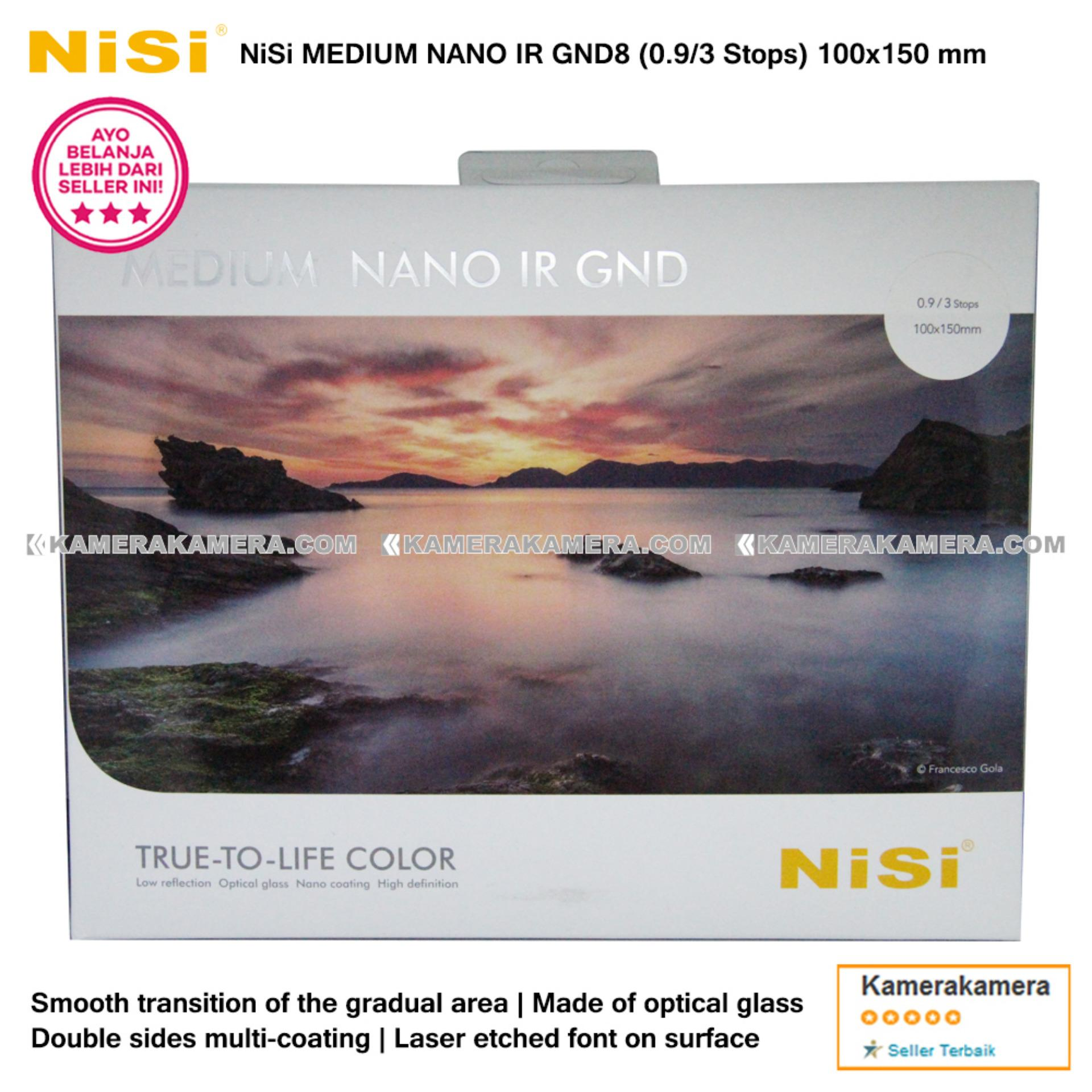 NiSi Square Filter Medium Nano IR GND8 (0.9 /3 Stops) 100x150mm Original for DSLR / Mirrorless Camera Canon Nikon Sony Fujifilm Panasonic