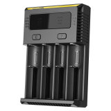 Nitecore Intellicharger Universal Battery Charger 4 Slot For Li Ion And Nimh New I4 Hitam Asli