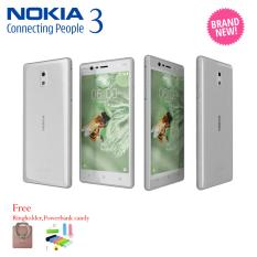Nokia 3 White 2/16GB - Android 7.0 - 5 inches - 8MP Camera Garansi Resmi Free Powerbank Candy + Ringholder