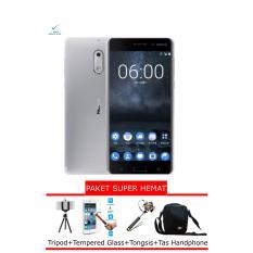 Nokia 6 Smartphone - Matte Black [32GB/3GB] Garansi Resmi + Paket Super Hemat
