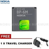Review Toko Nokia Baterai Battery Bp 6M For 3250 6151 6233 6280 9300 9300I N73 N73 Free Travel Charger Nokia Black Online