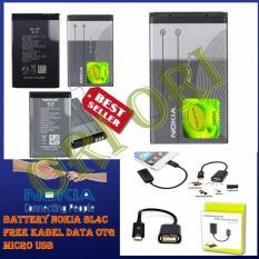 Nokia Baterai / Battery Nokia BL-4C 100% Original Free Kabel Data OTG Micro USB