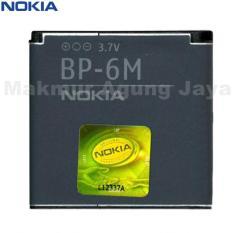 Nokia Battrai Baterai BP-6M Original - Hitam For or 3250, 6151, 6233, 6280, 9300, 9300i, N73, N73 music edition, N77, N93