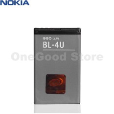 Nokia Battre / Batry / Battre BL-4U Original For Nokia  3120c / 5730 / E75 / 6600s / E66 / 5530 / 5250 / C5-03 / 500 / C5-06 / Asha 206 / 210 / 300 / 301 / 305 / 306 / 308 / 309 / 310 / 311 / 501 - Hitam