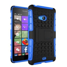 Nokia Lumia 540 Case Heavy Duty Double Rugged Protection Hybrid Shockproof Cover Case with Built-in Kickstand for Microsoft Lumia 540