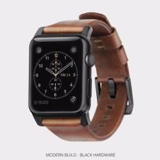 Harga Nomad Horween Leather Strap For Apple Watch 42Mm Seri 1 2 3 Black Hardware Baru