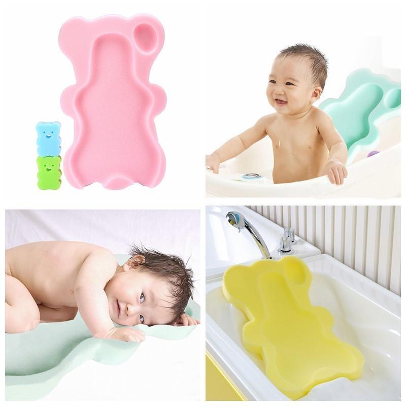 Nonof Comfy Bath Sponge untuk Bayi Bayi Anti Selip Bukti, Ibu Penolong Yang Hebat, Warna Secara Acak-Intl