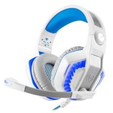 Noonbof Kuat GM-2 Game Headset untuk PS4 Xbox Satu Laptop Buah Smartphone Tablet Ponsel (Putih + Biru) -Internasional