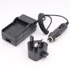 NP-45 Baterai Charger untuk FUJI FinePix J20 J25 Z10 Z20 Z30 Z20fdZ30fd J25 J15fd AC + DC Wall + Car (hitam) -Intl