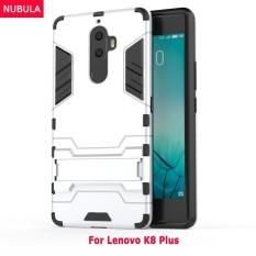 Nubula 2 Dalam 1 Keras Sampul Belakang Pelindung Cangkang Case dengan Dibangun Di-Dalam Penyangga untuk Lenovo K8 Plus-Internasional
