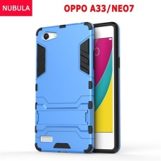 NUBULA 360 Derajat Ultra-Thin Hard Back Cover untuk OPPO A33/NEO 7 Detachable 2 In 1 Hybrid Armor Shell Case Dual-Layer Full Pelindung Shockproof Case Cover/Anti Jatuh Ponsel Cover dengan Built-In Kickstand- INTL