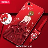 Spesifikasi Nubula Back Cover For Oppo A83 Pretty Diamond Ultra Thin Tpu Protection Phone Case Shockproof Case With Phone Rope And Metal Ring Intl Merk Oem