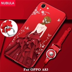 Spesifikasi Nubula Back Cover For Oppo A83 Pretty Diamond Ultra Thin Tpu Protection Phone Case Shockproof Case With Phone Rope And Metal Ring Intl Online