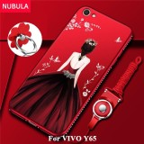 Promo Toko Nubula Back Cover For Vivo Y65 Pretty Diamond Ultra Thin Tpu Protection Phone Case Shockproof Case With Phone Rope And Metal Ring Intl