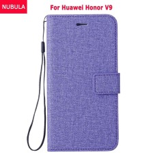 NUBULA Flip Cover For Huawei Honor V9 / Huawei Honor 8 Pro 5.7 Inch Woven Pattern Soft Leather Wallet Case Stand 360 degrees Anti-falling/Shockproof Cover Case With ID Card Pockets and Hand Rope Chain