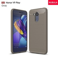 NUBULA For Huawei Honor 6C Pro / Huawei Honor V9 Play High Quality Soft Rugged Armor Case Carbon Fiber Brushed TPU shockproof Case/Ultra-thin Full Protection Anti-Scratch back Cover/Drop Resistance silicone Case Cover - intl