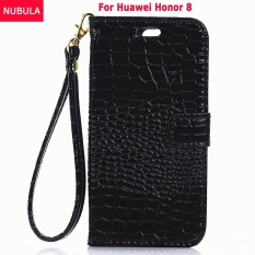 NUBULA For Huawei Honor 8 Luxury Crocodile Pattern Flip Cover Soft Leather Hand Strap Wallet Case Full Protection Shockproof Drop Resistance Flip Case With Handle Bracelets Chain