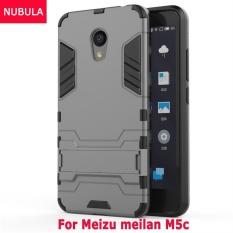 Nubula untuk Meizu Meilan M5c/Meilan 5C 360 Derajat Ultra-Thin Keras Penutup Belakang Detachable 2 In 1 Pelindung Hibrid shell Case Dual-Layer Penuh Pelindung Casing Pelindung Anti Kejut/Anti Jatuh Ponsel Cover dengan Standar Built-in-Intl