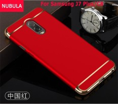 NUBULA untuk Samsung Galaxy J7 Plus/Samsung Galaxy C8 3 In 1 Hard PC Pelindung Belakang Menutupi Case/ Anti Jatuh Ponsel Cover/Tahan Terhadap Guncangan Ponsel Case