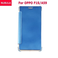 Beli Nubula Baru Fashion 360 Derajat Cermin Mewah Clamshell Hard Shell Flip Dompet Kasus Penutup Untuk Oppo F1S Oppo A59 A59S Soft Leather Flip Dompet Smart View Mirror Clear View Full Cover Case Oem