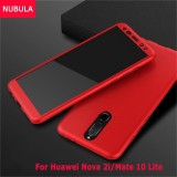 Review Tentang Nubula Phone Case For Huawei Nova 2I Mate 10 Lite 360 Degree Real Full Body Ultra Thin Hard Slim Pc Protective Case Cover With Tempered Glass Intl