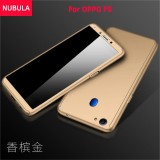 Jual Beli Online Nubula Phone Case For Oppo F5 360 Degree Real Full Body Ultra Thin Hard Slim Pc Protective Case Cover With Tempered Glass Intl