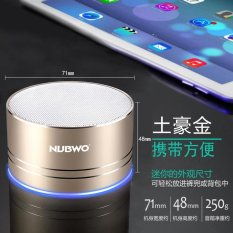 NUBWO/A2 PRO Wolf Bauwens Nirkabel Bluetooth Speaker Kartu Mobilephone Mini Stereo Bass Cannon-Intl
