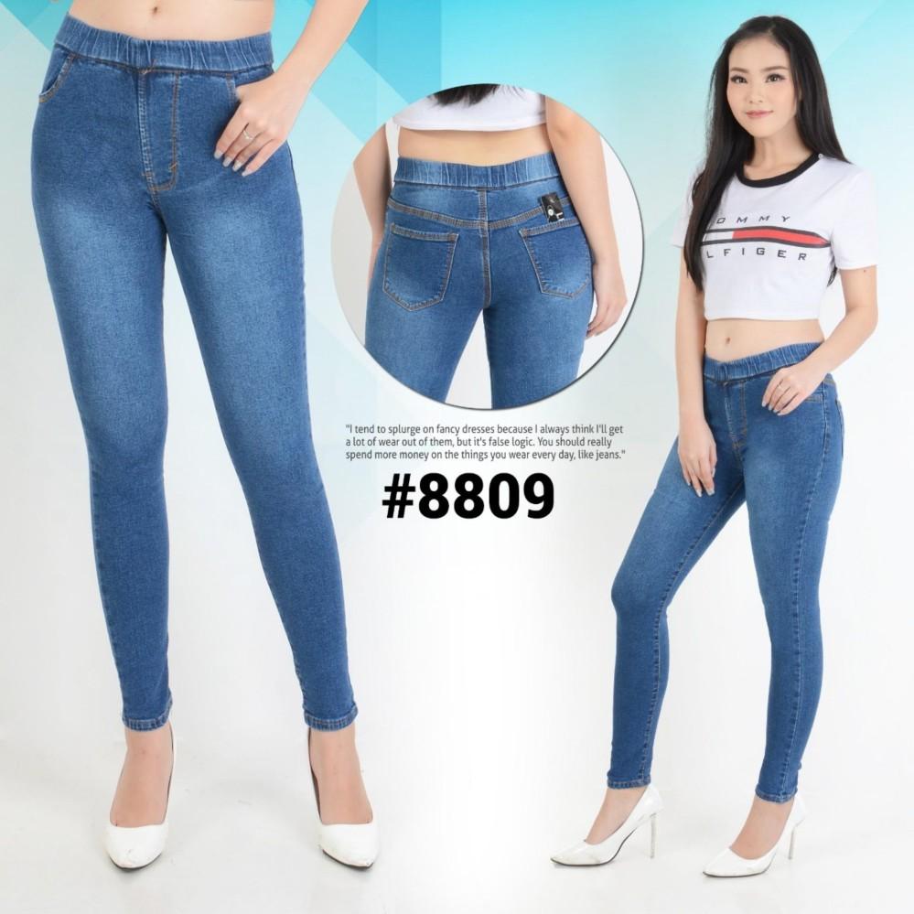 Nusantara Jeans - Celana Legging Jeans Wanita Bahan Bagus Murah - Biru Wash