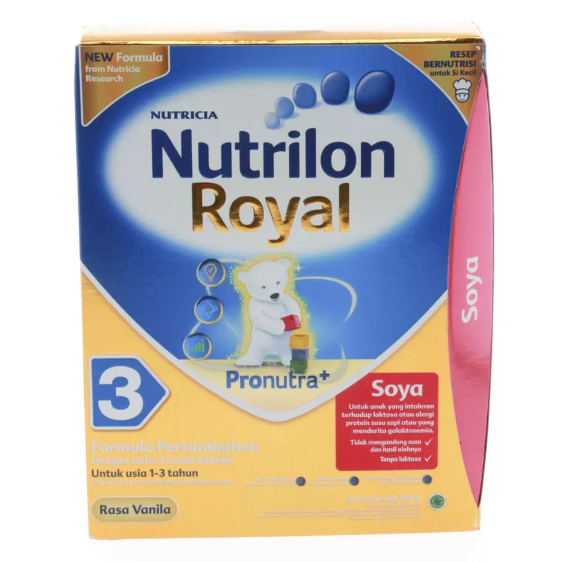Nutrilon Royal Soya 3 Pronutra Susu Pertumbuhan - Vanilla - 350gr