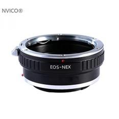 NVICO EOS Ke NEX Lens Mount Adapter, Canon EOS Lensa untuk Sony NEX E-mount Mirrorless Camera Adapter dengan Tripod Mount,. -Intl