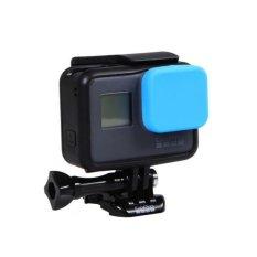 Nvshen Lens Cover Silicone Pelindung Kamera Lens Cap untuk GoPro Hero5-Intl