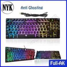 NYK Keyboard Gaming TKL K-01 Rainbow Full Backlight - Hitam