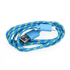 Nylon Dikepang Micro USB Data & Charging Cable untuk Samsung S7Lumia 730 HTC BARU-Internasional