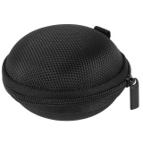 Cuci Gudang Nylon Round Shape Storage Case Carrying Bag For Earphones Hitam
