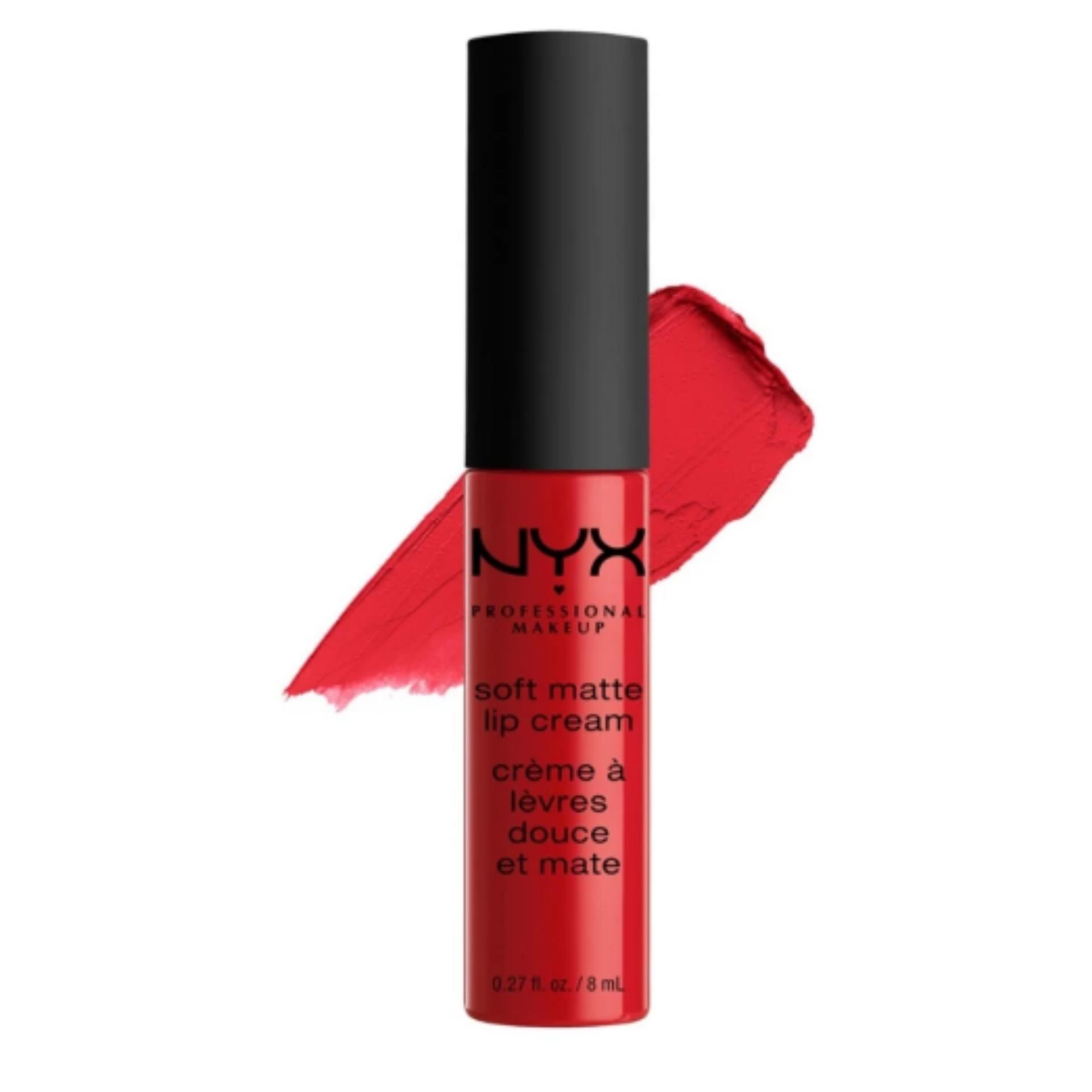 NYX Professional Makeup Soft Matte Lip Cream 01 Amsterdam - Lipstik Matte Merah Long Lasting Lightweight Tahan Lama