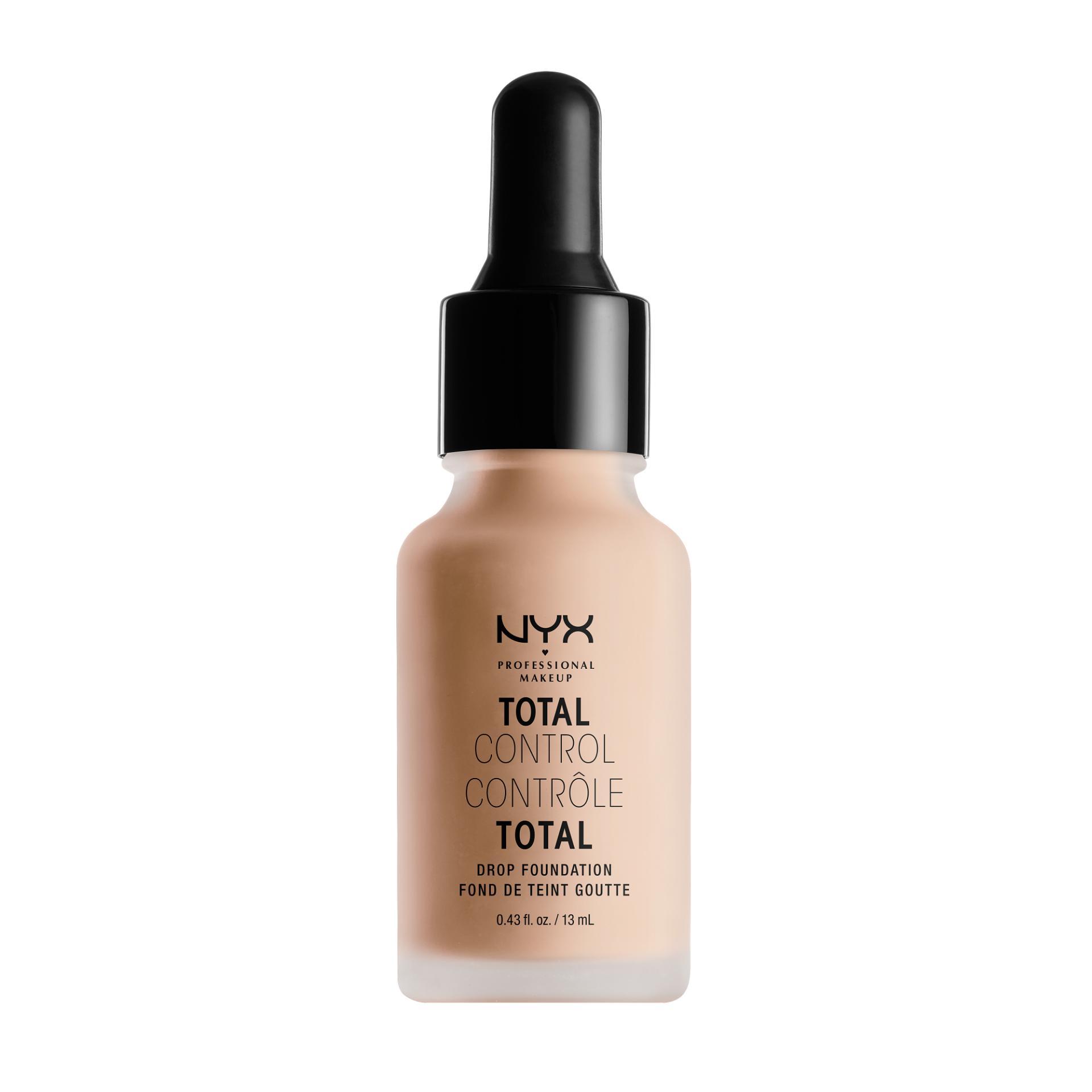 Nyx Professional Makeup Total Control Drop Foundation Light Alas Bedak Cair Liquid Hasil Matte Untuk Kulit Normal Dan Berminyak Termasuk Dropper Pipet Nyx Professional Makeup Diskon 40