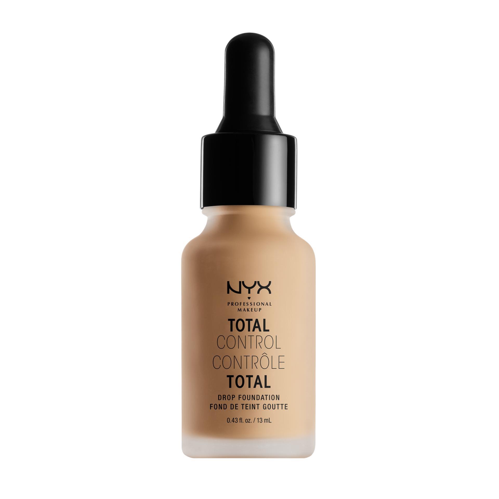 Nyx Professional Makeup Total Control Drop Foundation Medium Alas Bedak Cair Liquid Hasil Matte Untuk Kulit Normal Dan Berminyak Termasuk Dropper Pipet Promo Beli 1 Gratis 1