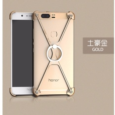 Oatsbasf Metal Frame Border Stand Case For Huawei Honor 8 Pro Honor V9 Cover Protective Shield + Ring Holder - intl