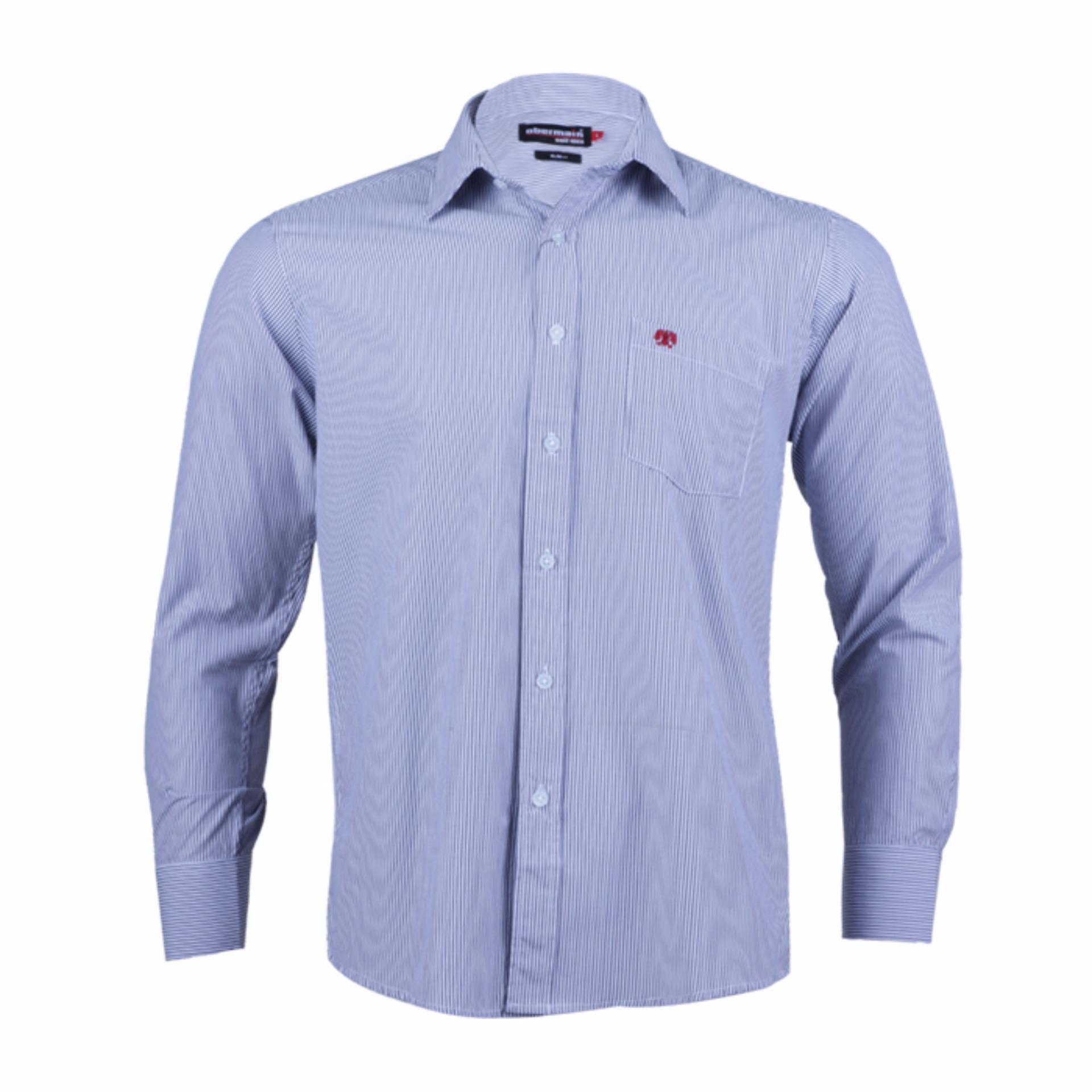 Harga Obermain Kemeja Pria Levi Shirt Blue Terbaru