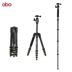 Obo TS360C Lipat Serat Karbon Portabel Tripod Kamera Tripod Bepergian Monopod dengan B262 Panorama Kepala Bola 5 Bagian Kerja Maksimal Tinggi 150 Cm untuk perkakas Bertualang DSLR Ildc Kamera Max Beban 10Kg-Intl