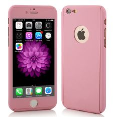 OEM 360 Full Protection Case IPhone 6 / 6S with Tempered Glass Pink