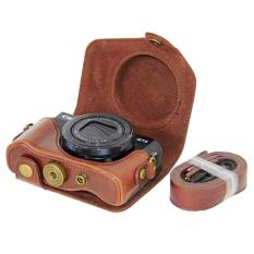 Cuci Gudang Oem Kamera For Canon G7X Ii Kelas Tinggi Pu Kulit Penutup Yang Dapat Dilepas Dasar Lengkap With Tali Bahu Warna Kopi