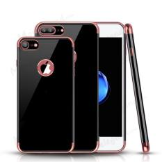 OEM Softcase Jet Black List Chrome Iphone 8 Plus - RoseGold