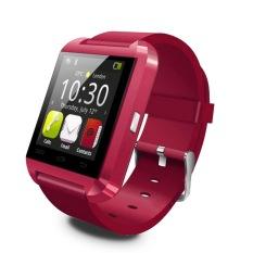 OH U8 Bluetooth Ponsel Jam Tangan Pasangan For Android Samsung HTC Merah